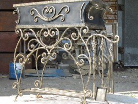 Wrought iron grill for the garden