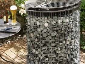 Grill on the gabions