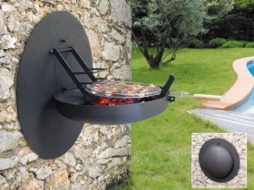 Interesting idea of a grill out of metal