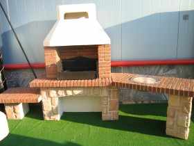 Brick BBQ oven in the country