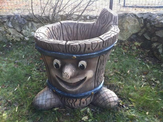 Садовая урна своими руками