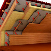The roof insulation