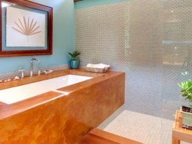 Modern bathroom wood