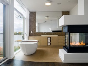 Bathroom interior in modern style