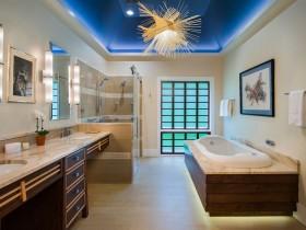 Ванная комната с современном оформлении