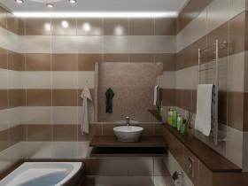 Идея дизайна современной ванной комнаты
