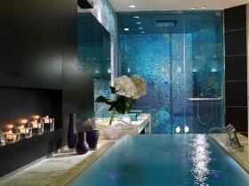 Вариант дизайна современной ванной комнаты