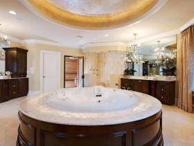 Round bath tub in modern style