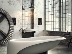 The unusual shape of the bath