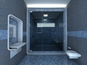 Идея дизайна интерьера ванной комнаты