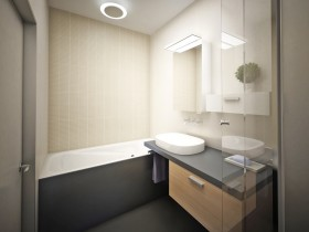 Small bathroom in modern style