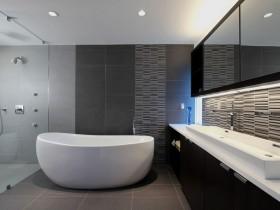 Interior bathroom in modern style
