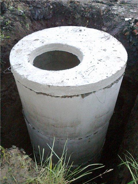 Выгребная яма из колец