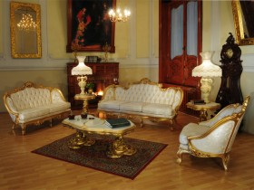 Living room with Victorian style and Baroque