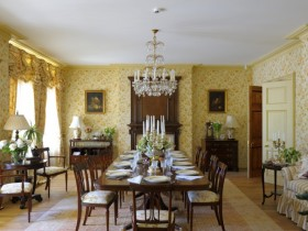 The interior dining room
