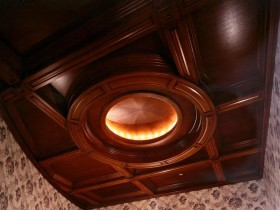 The idea of the design of the ceiling in the Victorian style
