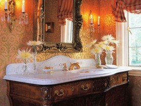 Design washbasin in the English style