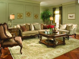 Living room design in Victorian style