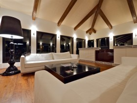 The design of the sofa in the living room