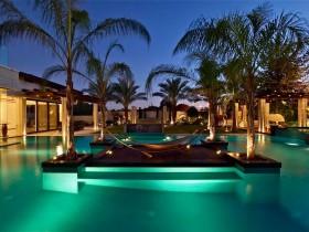Night lighting of the Villa