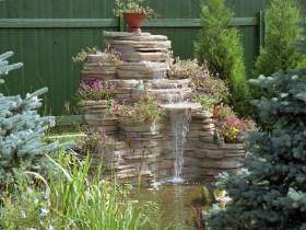 Идея дизайна водоема с водопадом