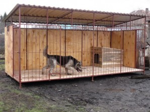 How to build an aviary for a dog with their hands?