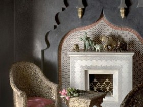 The fireplace in the Oriental style