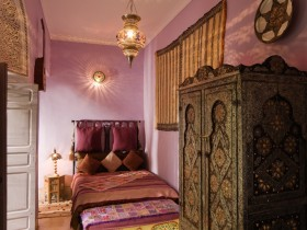 Bedroom interior in Arabic style