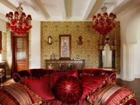 Luxury living room Oriental style