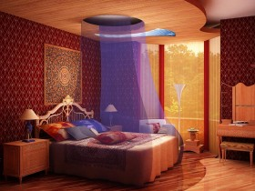 Modern Oriental bedroom decor