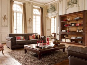 The interior is in Renaissance style with classic furniture