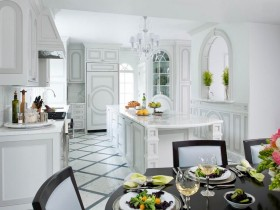 Kitchen with elements of Renaissance style