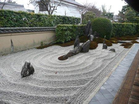 Пример японского каменного сада