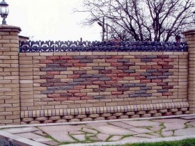 A fence made of brick