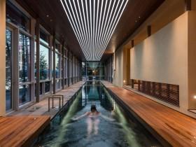 Long indoor pool