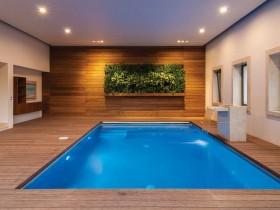 Rectangular indoor pool