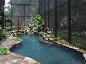 Дызайн закрытага басейна на дачы