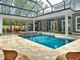 Homemade indoor pool