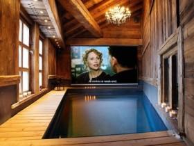 An indoor pool, indoor