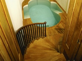 The indoor pool in the basement