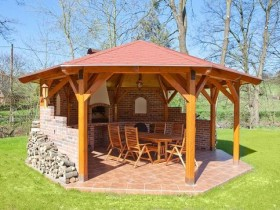 Gazebo with your own hands